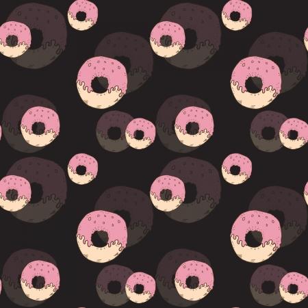 hand jam: Donuts seamless pattern Illustration