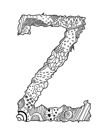 Hand Drawn Letter Z Vector