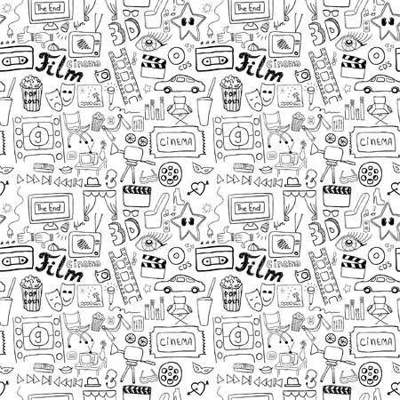 Cinema signs seamless pattern Vector