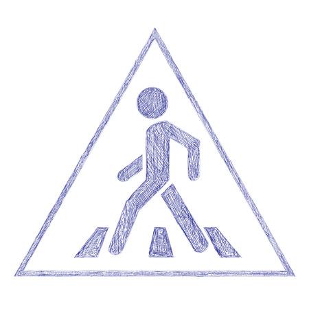 pedestrian: Road sign