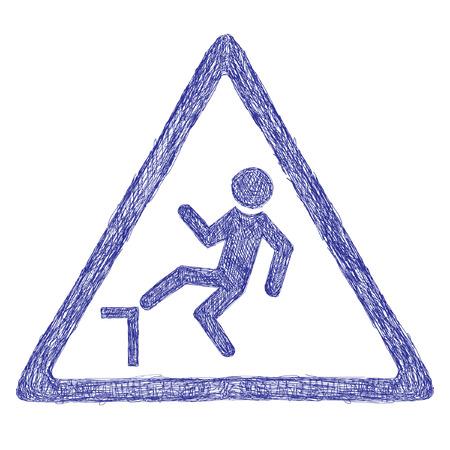 stumble: Accident road sign