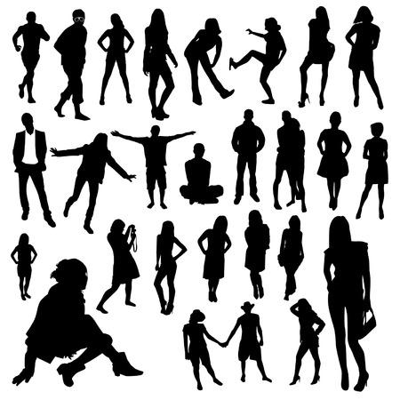 pessoas: Conjunto de pessoas Ilustração