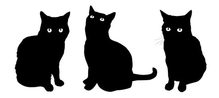 house clip art: Cat figures