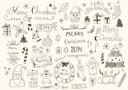 Vrolijk kerstfeest Signs Collection
