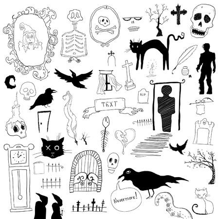 Scary symbols Vector