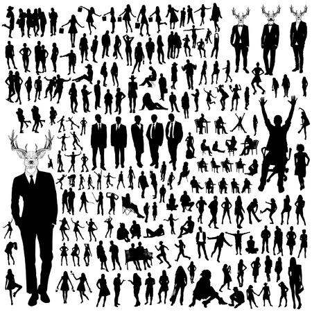 Mensen silhouetten