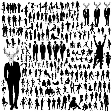 casual business team: People Silhouettes