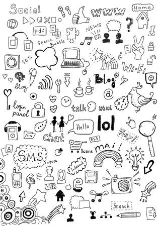 Set van communicatie iconen