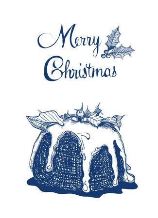 Christmas pudding Stock Vector - 24945304