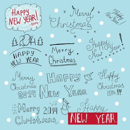 congratulations word: New Year and Christmas texts