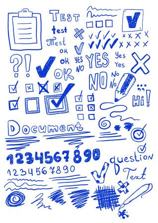free vote: Set of hand drawn elements