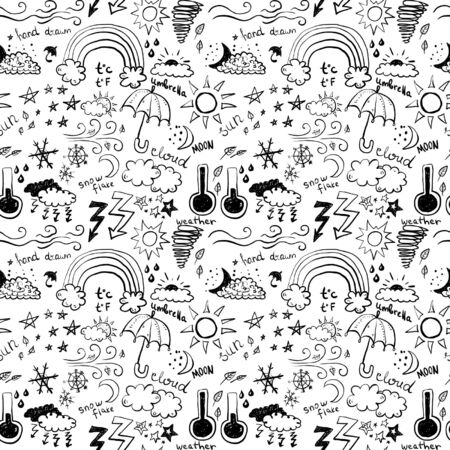 hot temperature: Weather Seamless Pattern