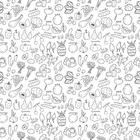 Vegetarian seamless pattern Vector
