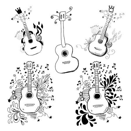 Guitar Doodles Vector