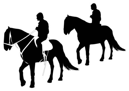 horseback riding: Horse riding Illustration
