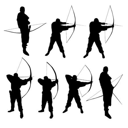 les arcs: Silhouettes Archer Illustration