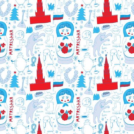 russian culture: Russian Seamless Pattern