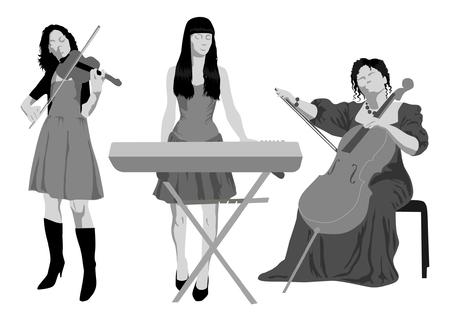 stage set: Musicians