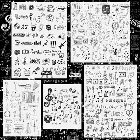 iconos de música: Música símbolos y signos
