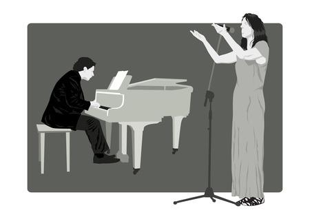chanteur opéra: Pianiste et chanteur