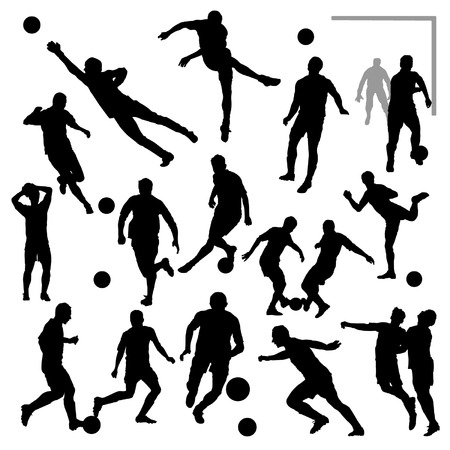 keeper: Soccer Players Silhouettes