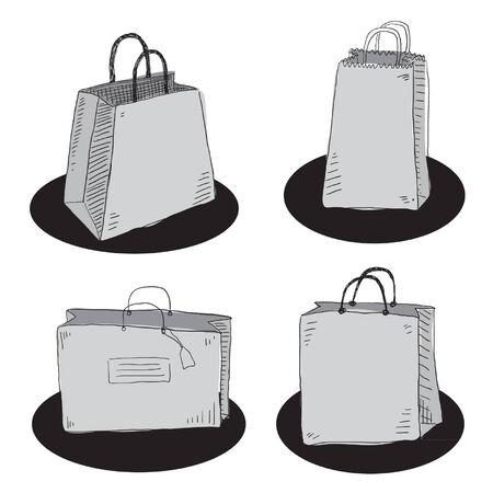 white paper bag: Shopping bags