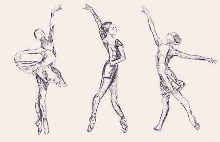 Ballet dancers Ilustracja
