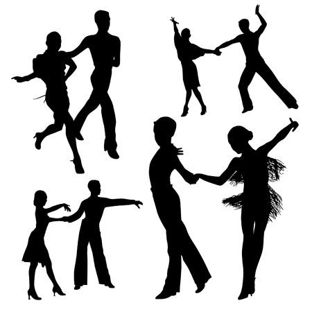 latin american boys: Dancing Couple Illustration