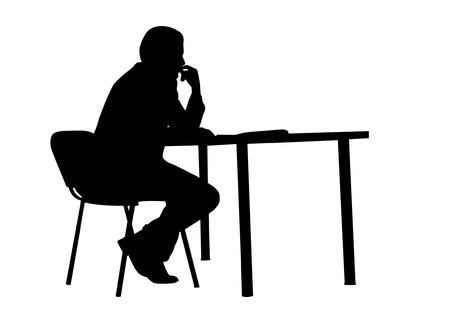 Sitting Silhouette Vector