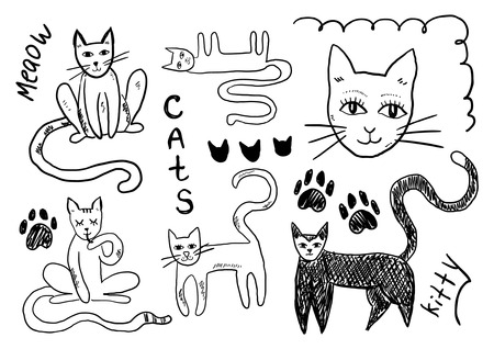 meow: Cats doodles