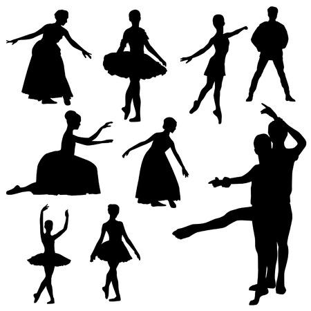 bailarines silueta: Siluetas del ballet