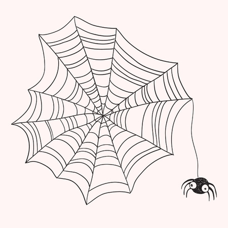 spidery: Spider and web