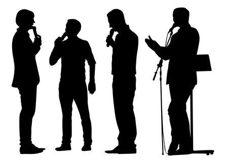 spokesman: Orator Silhouettes
