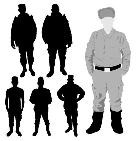 nato: Soldiers silhouette