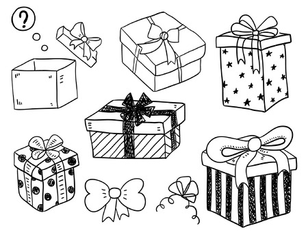 gift tag: Gift Boxes Illustration