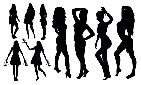 Girl Silhouettes Illustration