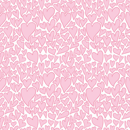 tilling: Hearts. Seamless pattern