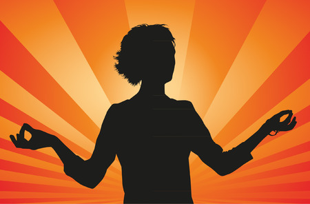the energy center: Meditation Silhouette Illustration