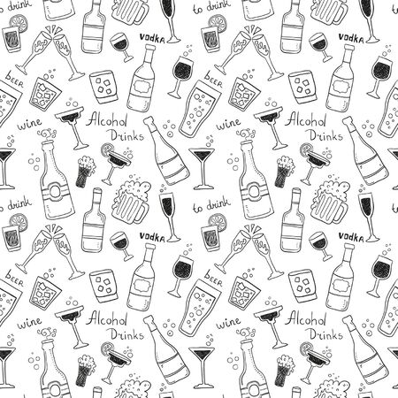 patterns vector: Alcohol Seamless pattern