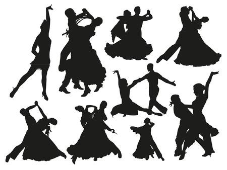 Coppie danza Sagome Archivio Fotografico - 38143883