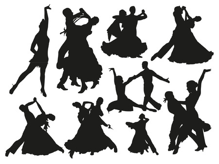 Dancing Pairs Silhouettes