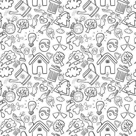 Eco seamless background Vector