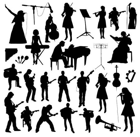 orquesta: Músicos Siluetas