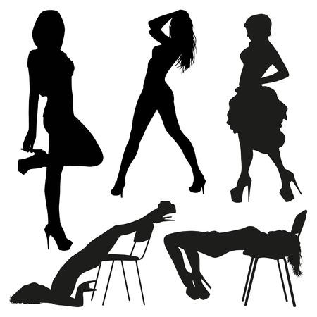 femme noire nue: silhouettes sexy