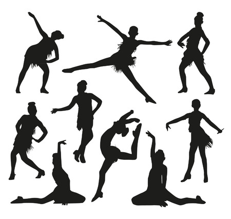 dancing pose: Dance silhouettes