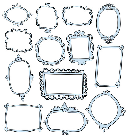 wedding photo frame: Hand Drawn Frames