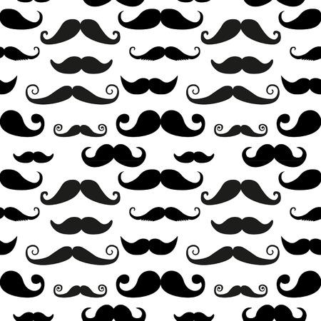 Mustache seamless pattern