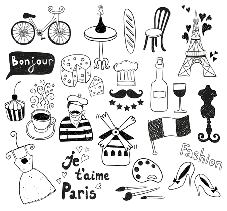 paris: Paris doodles Illustration
