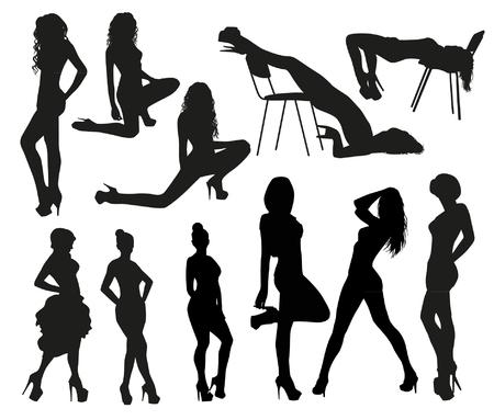 mujeres desnudas: siluetas atractivas