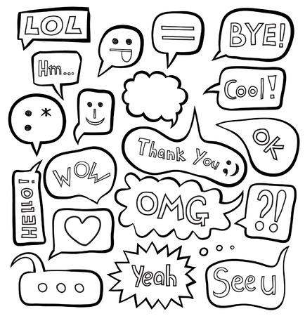speech cloud: Set of speech bubbles